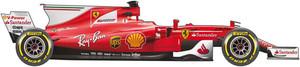 El coche de Ferrari para el Mundial de la F1 2017