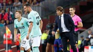 Conte criticó la actuación del colegiado en el Camp Nou