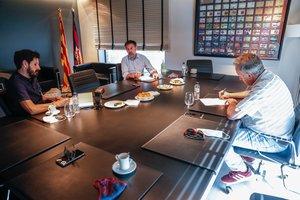 La entrevista a Josep Maria Bartomeu, en imágenes