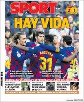 Esta es la portada de Sport del domingo 16 de febrero