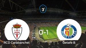 El Getafe B ganó a domicilio al RCarabanchel (0-1)