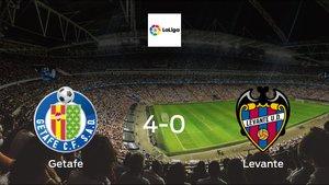 Getafe score 4 in win against Levante 4-0 at Coliseum Alfonso Pérez