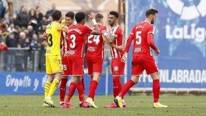 El Girona empezó su racha en Fuenlabrada