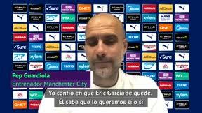 Guardiola: Tengo confianza en que Eric Garcia se vaya a quedar, pero al final es su decisión