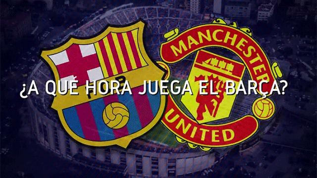 Horario mundial del FC Barcelona - Manchester United