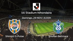 Jornada 30 de Liga Japonesa J1: previa del encuentro Shimizu S-Pulse - Shonan Bellmare