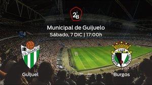 Jornada 16 de la Segunda División B: previa del duelo Guijuelo - Burgos