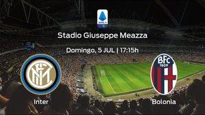 Jornada 30 de la Serie A: previa del encuentro Inter - Bolonia