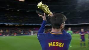 Leo Messi, con su cuarta Bota de Oro