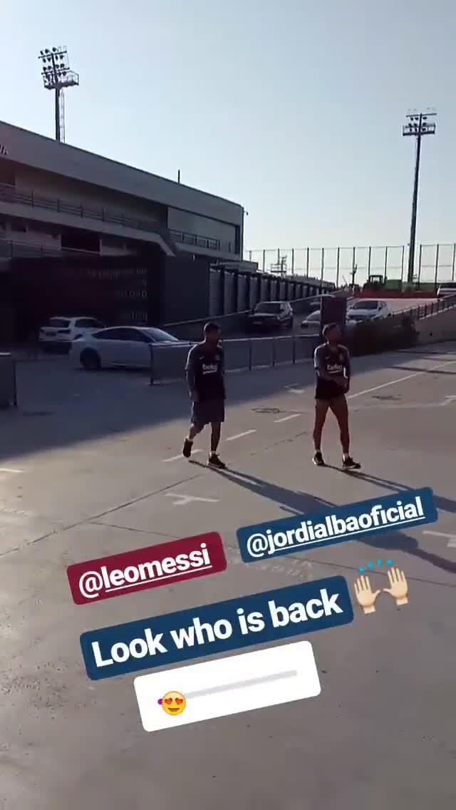 Messi y Alba, en las instalaciones de Sant Joan Despí