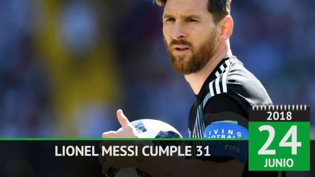 Messi cumple 31 años