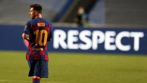 Messi, después del partido de Lisboa contra el Bayern de Múnich