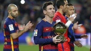 Messi suma cinco Balones de Oro
