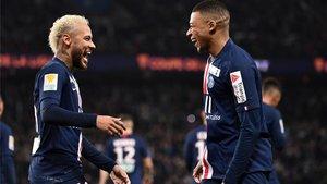 Neymar y Mbappé, en una imagen desta temporada