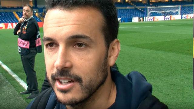 Pedro avisa a los jugadores del Barça del peligro del Liverpool
