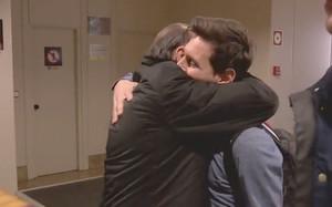 Quini y Messi se fundieron en un emotivo abrazo