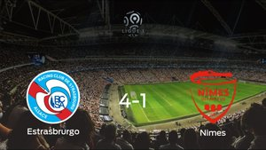 El Racing Estrasbrurgo se lleva la victoria tras golear 4-1 al Olimpique de Nimes