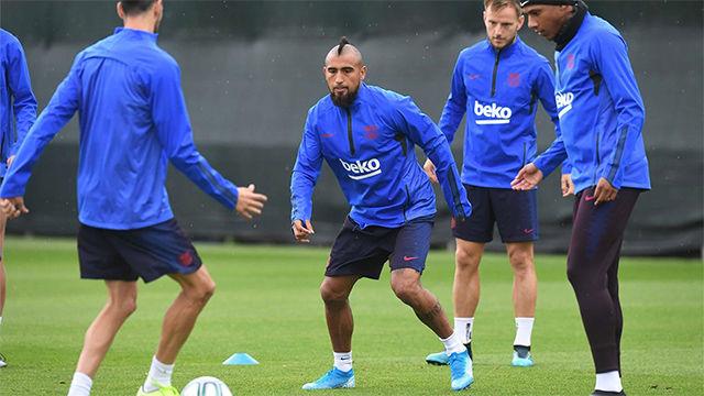 Semedo, Griezmann, Lenglet y Arthur se reincorporan a los entrenamientos del Barça