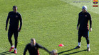 Una imagen del entrenamiento del Barcelona