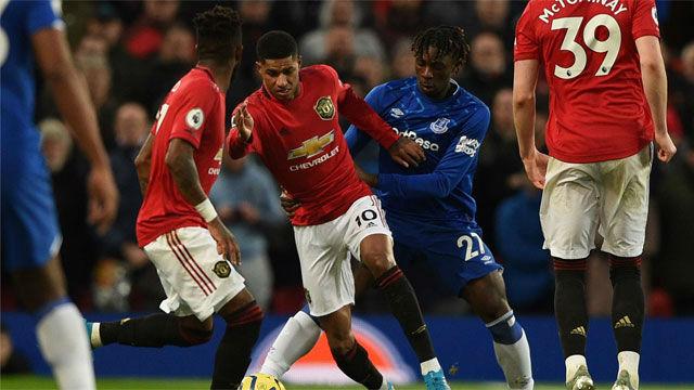 El United salvó un punto en los últimos minutos ante el Everton