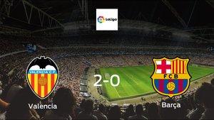 Valencia cruise to a 2-0 victory vs. Barcelona at Mestalla