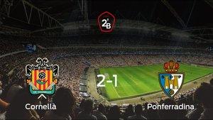 Victoria del Cornellà en el duelo de ida de los cuartos de final de los playoff ante la Ponferradina (2-1)