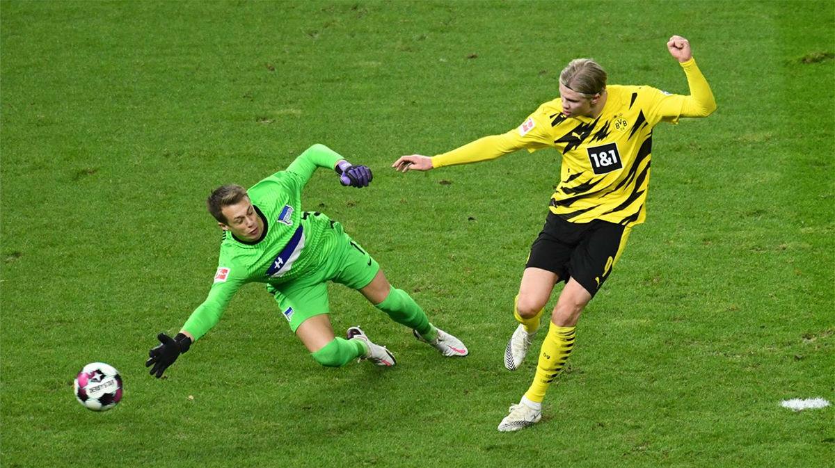 La voracidad goleadora de Haaland no tiene límites: el póker al Hertha