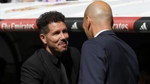 Zidane y Simeone volverán a verse las caras esta noche en la Champions