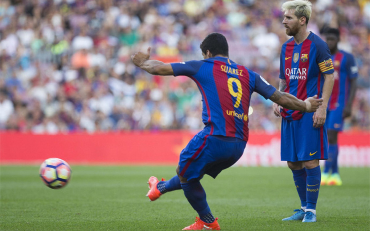 Suárez, el cañonero del FC Barcelona