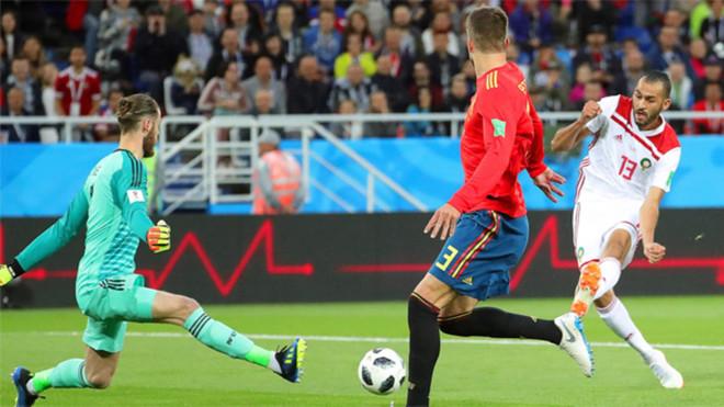 Davi de Gea durante el España-Marruecos del Mundial de Rusia 2018
