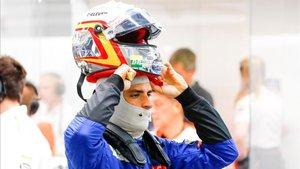 Sainz durante la sesión de entrenamientos en Marina Bay