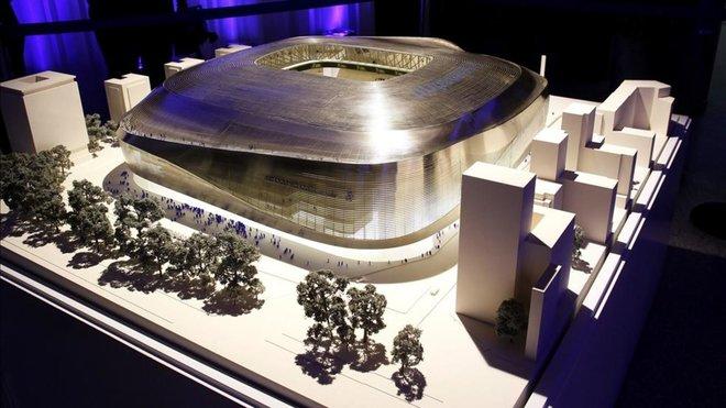 Las obras del Bernabéu, paralizadas