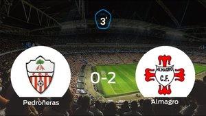 El Almagro suma tres puntos a su casillero frente al Pedroñeras (0-2)
