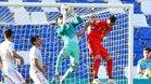 Antonio Sivera atrapando el balón frente a Bélgica en el Europeo de Italia Sub-21