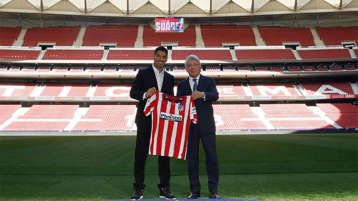 Así ha sido el primer día de Luis Suárez como jugador del Atlético de Madrid
