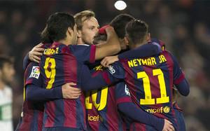 El Barça decidió la eliminatoria por la vía rápida
