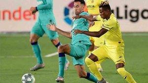 El Barça jugó un muy buen primer tiempo en Villarreal
