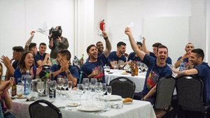 El Barça Lassa celebró la Copa del Rey con una cena en Ciudad Real