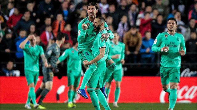 Benzemá salvó al Real Madrid en el descuento