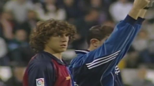 Se cumplen 20 años del debut de Puyol en liga ante el Valladolid