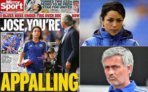 El Daily Mirror critica la actitud de Jose Mourinho con la doctora del Chelsea