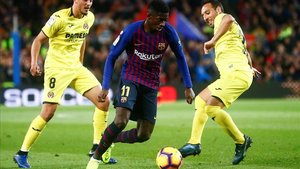 Dembélé fue el mejor del Barça ante el Villarreal