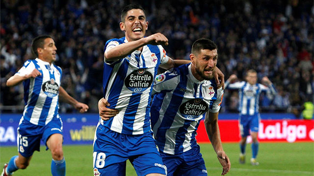 El Dépor se lleva a Málaga una renta de 2 goles