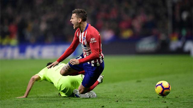 La dura entrada de Lucas Hernández a Leo Messi