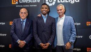Etoo y Mourinho coincidieron en el Inter de Milán y el Chelsea