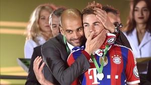 Gotze y Guardiola coincidieron en el Bayern