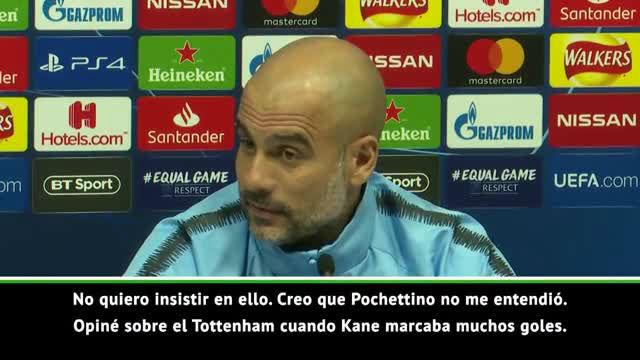 Guardiola: No quiero enfadar a Pochettino con mis comentarios