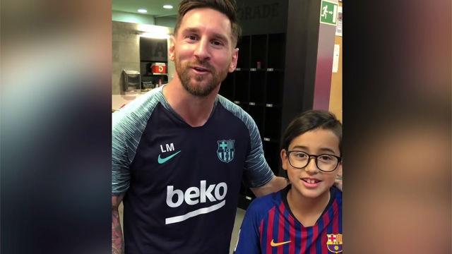 El hijo de Arturo Vidal recibe el apoyo de los jugadores del FC Barcelona