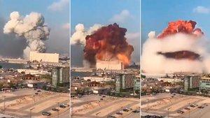 Impactantes imágenes de la brutal explosión en el puerto de Beirut (ES)