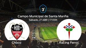 Jornada 34 de la Tercera División: Previa del partido Choco - Racing Ferrol